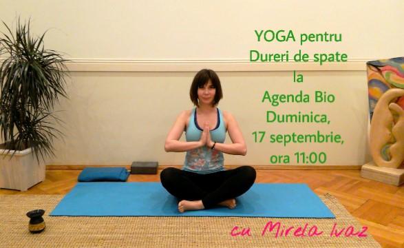 Yoga pentru Dureri de Spate la Agenda Bio Editia 6